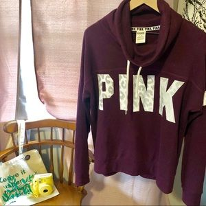 PINK Funnel Neck Sweatshirt